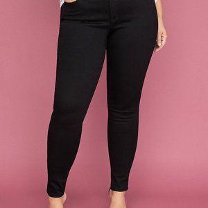 Lane Bryant Black High Waisted Skinny Jean Size 28
